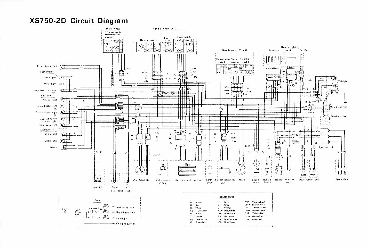Xs850 Wiring Diagram Diagrams 1980 Kz1000 Color Yamaha Experts Of U2022 Rh Evilcloud Co Uk Xs650 For Chopper
